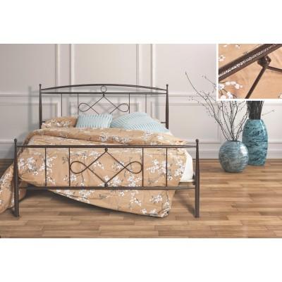 N22B Κρεβάτι μεταλλικό μονό 100x200εκ. ( για στρώμα 90x190εκ.)
