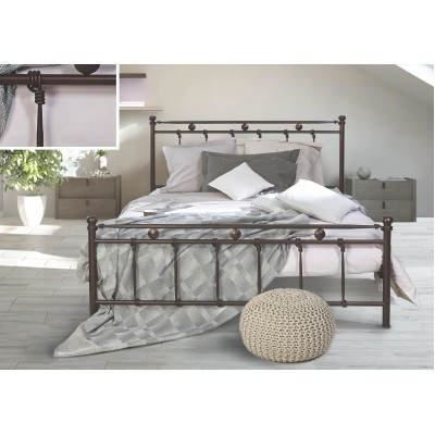 N37 Κρεβάτι μεταλλικό διπλό 170x210εκ. ( για στρώμα 160x200εκ.)