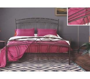 N54 Κρεβάτι μεταλλικό διπλό 170x210εκ. ( για στρώμα 160x200εκ.)