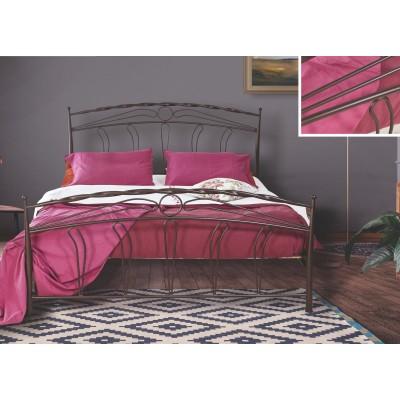 N54 Κρεβάτι μεταλλικό διπλό 160x210εκ. ( για στρώμα 150x200εκ.)
