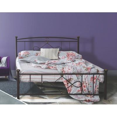 N22 Κρεβάτι μεταλλικό μονό 100x200εκ. ( για στρώμα 90x190εκ.)