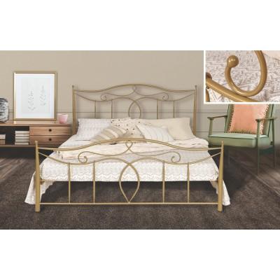 N53 Κρεβάτι μεταλλικό διπλό 160x210εκ. ( για στρώμα 150x200εκ.)