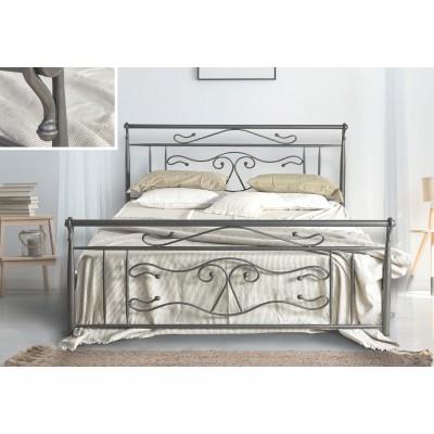 N57 Κρεβάτι μεταλλικό διπλό 160x210εκ. ( για στρώμα 150x200εκ.)