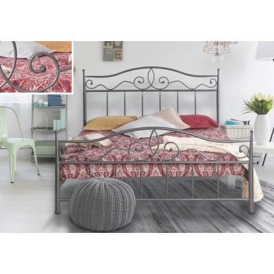 N60 Κρεβάτι μεταλλικό διπλό 160x210εκ. ( για στρώμα 150x200εκ.)
