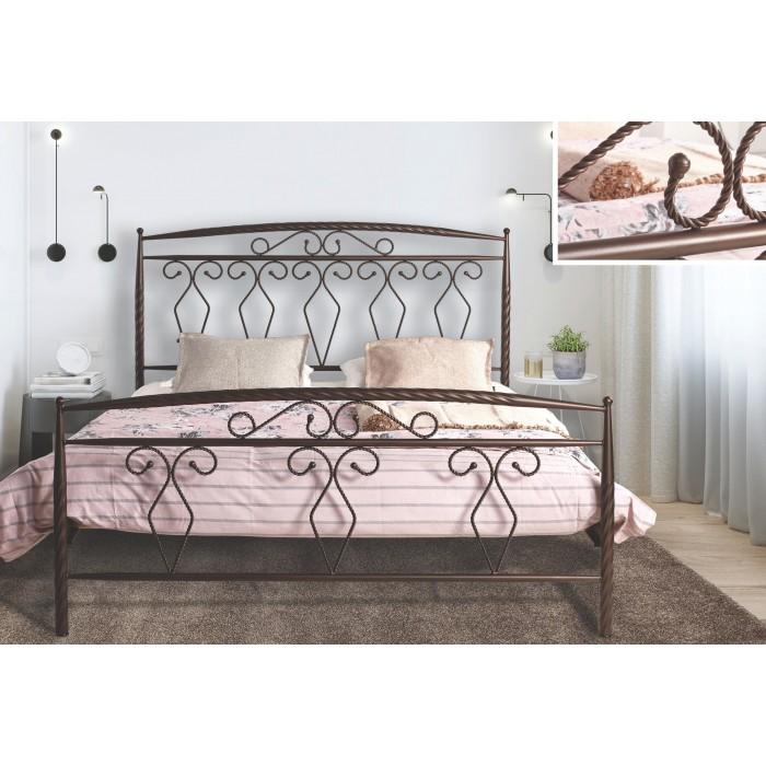 N62 Κρεβάτι μεταλλικό διπλό 160x210εκ. ( για στρώμα 150x200εκ.)