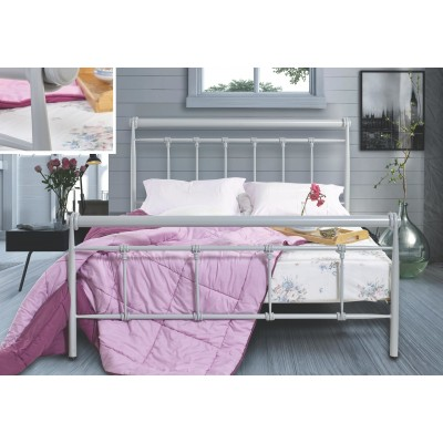 N73 Κρεβάτι μεταλλικό μονό 100x200εκ. ( για στρώμα 90x190εκ.)