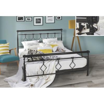N74 Κρεβάτι μεταλλικό μονό 100x200εκ. ( για στρώμα 90x190εκ.)