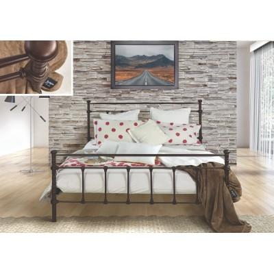 N77 Κρεβάτι μεταλλικό μονό 100x200εκ. ( για στρώμα 90x190εκ.)