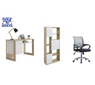 Back2school Σετ γραφείο Morzine με καρέκλα γραφείου και βιβλιοθήκη Box
