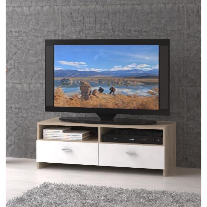 Eπιπλα τηλεορασης - Ralf Έπιπλο τηλεόρασης 110x35x38εκ. Sonoma/White  ΕΠΙΠΛΑ ΤΗΛΕΟΡΑΣΗΣ , insidehome.gr