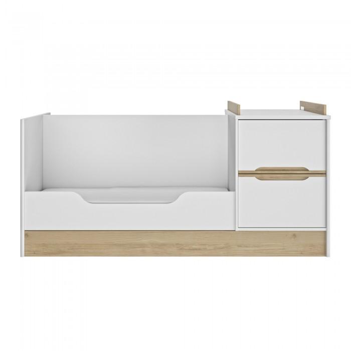 Celeste πολυμορφικό βρεφικό κρεβάτι 206x112x92εκ. Λευκό - Natural chestnut