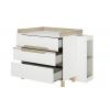 Celeste συρταριέρα με 3 συρτάρια, αλλαξιέρα & φορητή βιβλιοθήκη Λευκό - Natural chestnut