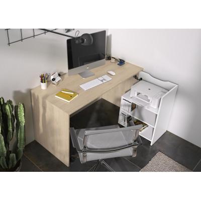 Albane Γραφείο ανοιγόμενο  136x60/110x75εκ. Natural Chestnut / White