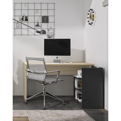 Albane Γραφείο ανοιγόμενο  136x60/110x75εκ. Natural Chestnut / Black
