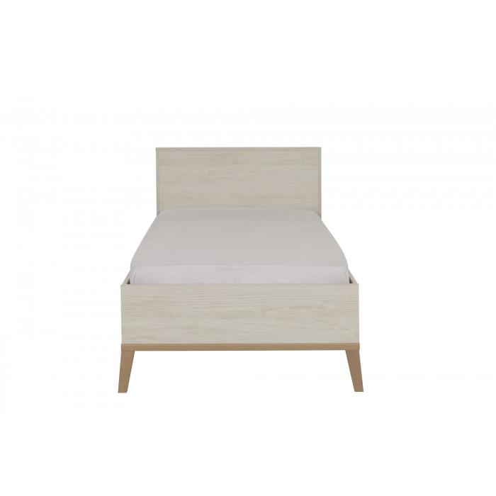 Alika κρεβάτι μονό 99x210x86εκ. ( για στρώμα 90x200εκ. ) Whitewashed Chestnut/Beech