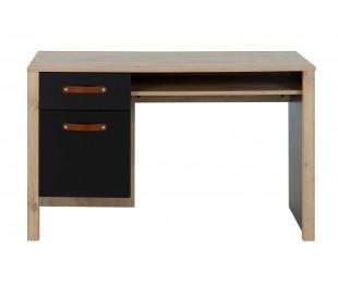 Arthus Γραφείο με ένα συρτάρι και ένα ντουλάπι 122x56x75εκ. Artisan Oak / Black