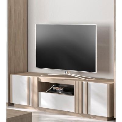 Aston Έπιπλο τηλεόρασης 180x46x51εκ. Light Kronberg Oak - Λευκή Λάκα