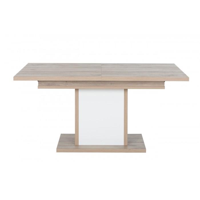 Aston Τραπέζι τραπεζαρίας  επεκτεινόμενο 160/208x90εκ. Light Kronberg Oak - Λευκή Λάκα