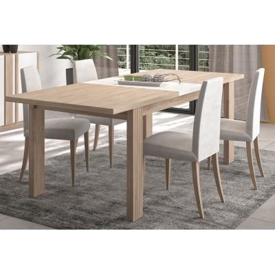 Aston Τραπέζι τραπεζαρίας επεκτεινόμενο 180/228x90εκ. Light Kronberg Oak/Λευκή Λάκα