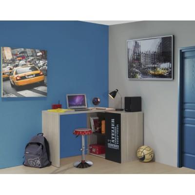 Atelier γραφείο πολυμορφικό 102/82x46/126cm Ανοιχτό δρυς/Μαύρο