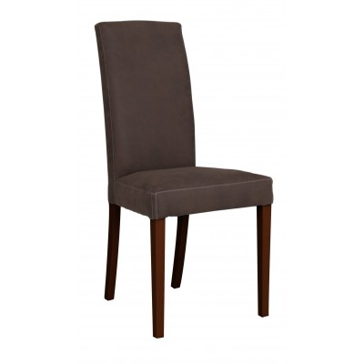 Ava καρέκλα ξύλινη Vintage 48x56x100εκ. Καφέ ύφασμα / Καφέ πόδια