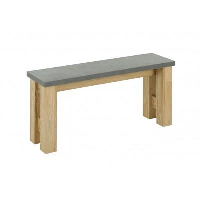 Broceliande παγκάκι 110x30x49εκ. Grandson Oak - Concrete
