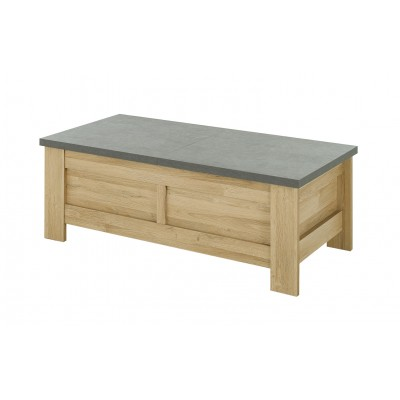 Broceliande Τραπεζάκι σαλονιού με αποθηκευτικό χώρο 137x70εκ. Grandson Oak - Concrete