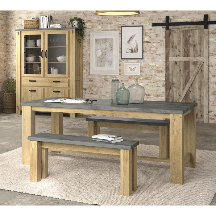 Broceliande Τραπέζι 192x97εκ. Grandson Oak - Concrete