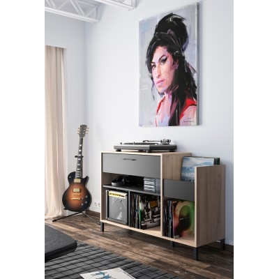 Vinyl έπιπλο για pick-up 115x40x81εκ. Light Kronberg Oak/Black