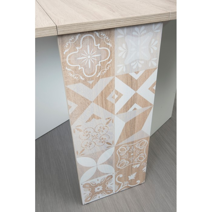 Chloe τραπέζι πτυσσόμενο 140/30x80x75εκ. Sonoma Oak/White