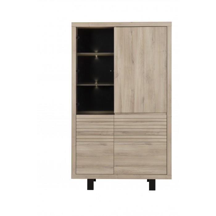 Clay Ντουλάπι αποθήκευσης με 4 πόρτες 110x48x185εκ. Light Kronberg Oak