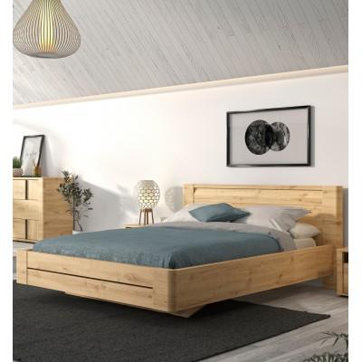 Confidence Κρεβάτι διπλό 157x210εκ. (για στρώμα 140x200εκ.) Artisan Oak με ανατομικό πλαίσιο