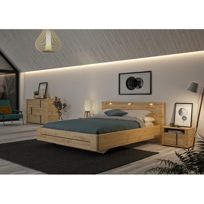 Confidence Κρεβάτι διπλό 157x210εκ. ( για στρώμα 140x200εκ. ) Artisan Oak με ανατομικό πλαίσιο