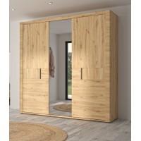 Confidence Ντουλάπα με 3 πόρτες & καθρέφτη 220x59x222εκ. Δρυς Artisan