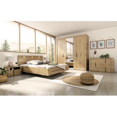 Confidence σετ κρεβατοκάμαρας 5 τεμαχίων Artisan Oak ( για στρώμα 180x200εκ. )