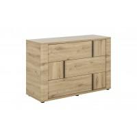 Confidence συρταριέρα με 3 συρτάρια  121x 45x80εκ. Δρυς Artisan