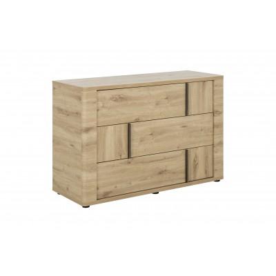 Confidence συρταριέρα με 3 συρτάρια  121x 45x80εκ. Artisan Oak