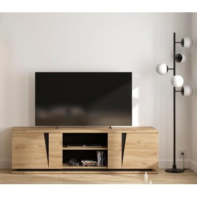 Crack έπιπλο τηλεόρασης 181x45x54εκ. Artisan Oak/ Black