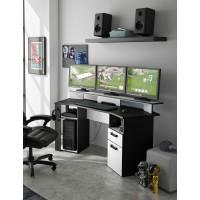 Σετ γραφείο Gaming Invaders & πολυθρόνα γραφείου Gaming WWO286 Μαύρο/Γκρι