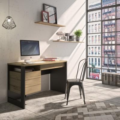 Russel Γραφείο 120x54x86εκ. Helvezia Oak / Black