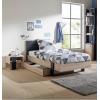 Duplex Κρεβάτι Μονό 100x204εκ. ( για στρώμα 90x200εκ.) με αποθηκευτικό συρτάρι Black/Natural Chestnut