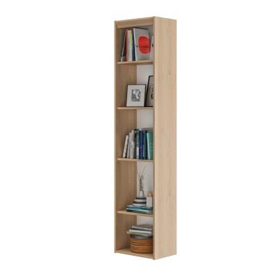 Essentiel Βιβλιοθήκη στενή με 4 ράφια 44x30x197εκ. Natural Chestnut