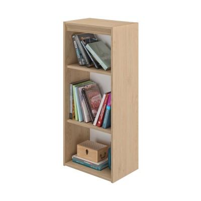 Essentiel Βιβλιοθήκη στενή με 2 ράφια 44x30x102εκ. Natural Chestnut
