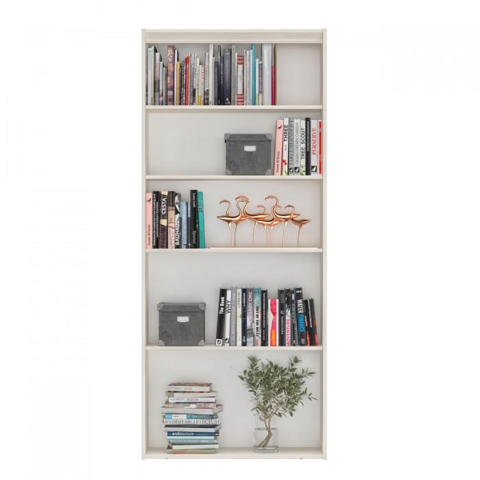 Essentiel Βιβλιοθήκη με 4 ράφια 85x30x197εκ. Whitewashed Oak