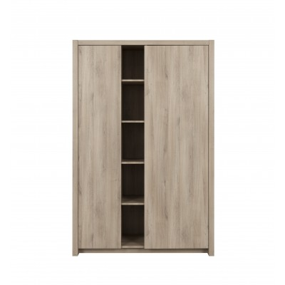 Ethan Ντουλάπα με 2 πόρτες 131x59x200εκ.  Light Kronberg Oak
