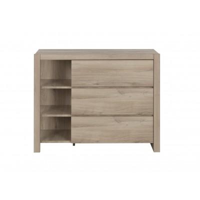 Ethan Συρταριέρα με 3 συρτάρια & 3 ράφια 102x46x79εκ.  Light Kronberg Oak