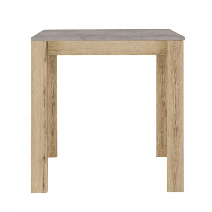 Exit Τραπέζι Ψηλό Επεκτεινόμενο 91(131)x80x95εκ.  Δρυς/Τσιμέντο Ανοιχτό  ΤΡΑΠΕΖΙΑ ΞΥΛΙΝΑ-ΜΕΤΑΛΛΙΚΑ-ΓΥΑΛΙΝΑ, insidehome.gr