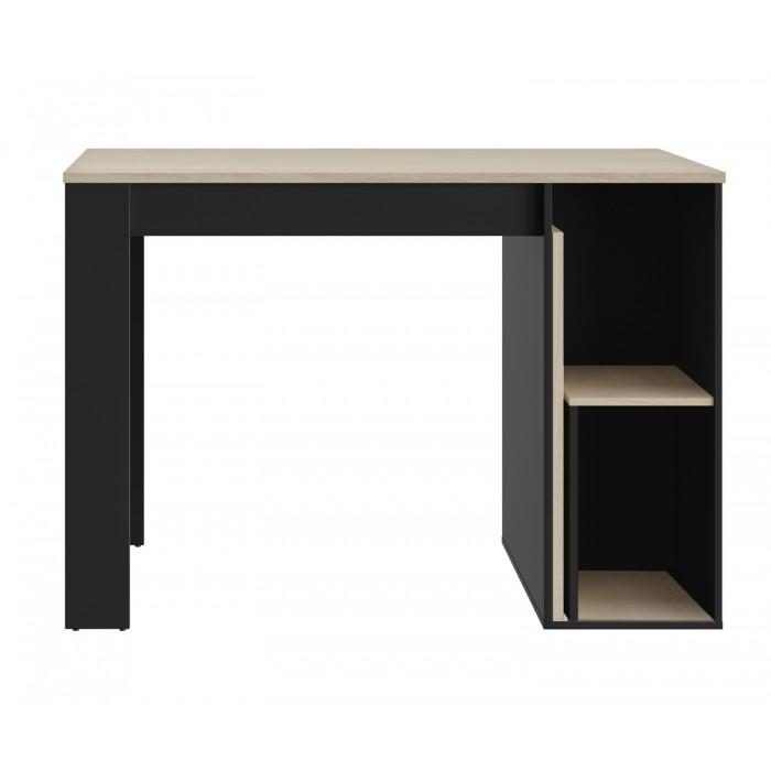 Exit τραπέζι ψηλό επεκτεινόμενο με αποθηκευτικό χώρο 136/181x80x95εκ. Ανοιχτό Δρυς / Μαύρο