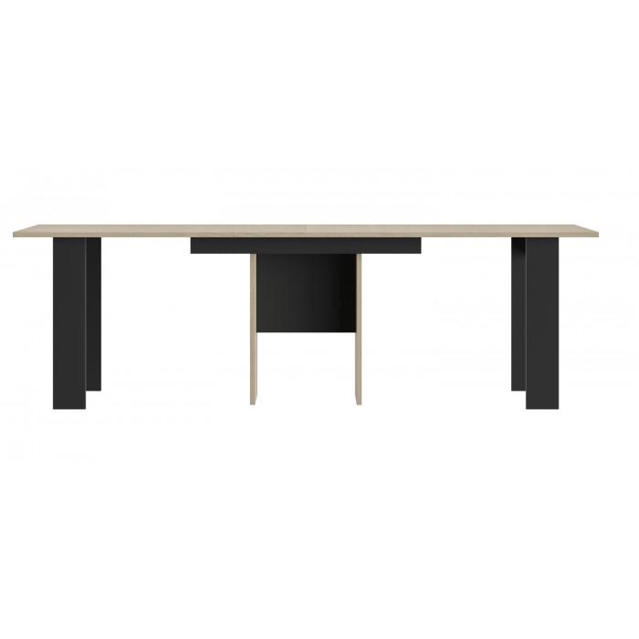Exit τραπέζι επεκτεινόμενο 160/295x80x77εκ. Ανοιχτό Δρυς / Μαύρο