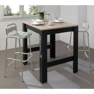Exit Τραπέζι Ψηλό Επεκτεινόμενο 91(131)x80x95εκ. Ανοιχτό δρυς/Μαύρο
